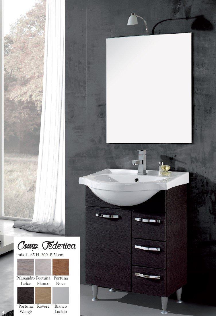 Europrimo mobile da bagno moderno con lavabo composizione con ...