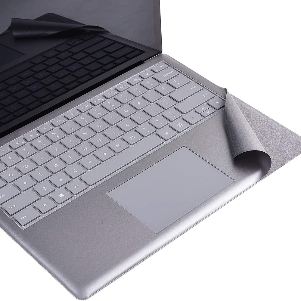 xisiciao Full Size Keyboard Palm Rest Protector for Microsoft Surface Laptop/Laptop 2 Palm Pads/Wrist Rest, for Stained Keyboard, Renovation Cover Decal 13.5 Inch (Opaque Grey)
