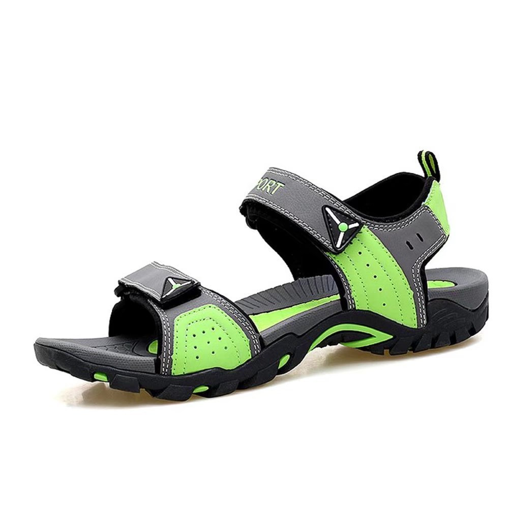 NiNE CiF Women's Outdoor Sport Hiking Sandals(7 B(M) US, Grey&Green)