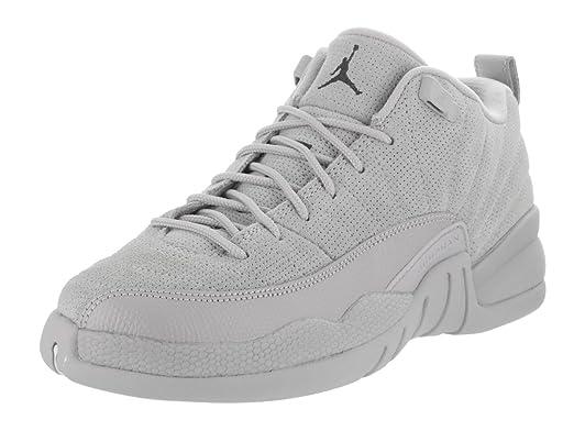 289eadca8077e0 discount code for air jordan 12 retro low playoffs 2ce8f 310fd  low cost jordan  nike kids air 12 retro low bg wolf grey armory navy basketball shoe