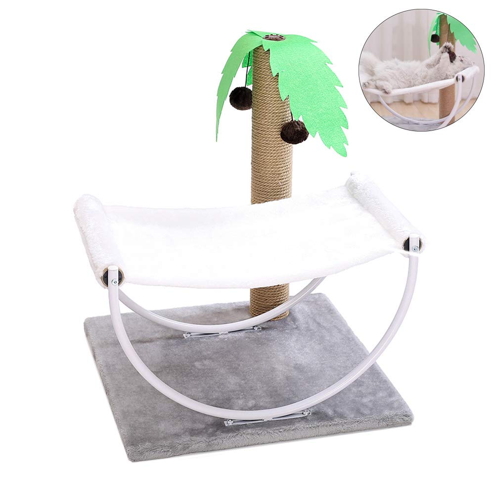 Natural Pet cat Casual Climbing Frame, Felt, cat Bed Apartment cat Tower Lounge Chair, Entertainment Grabbing Board Toy, Stable,Natural