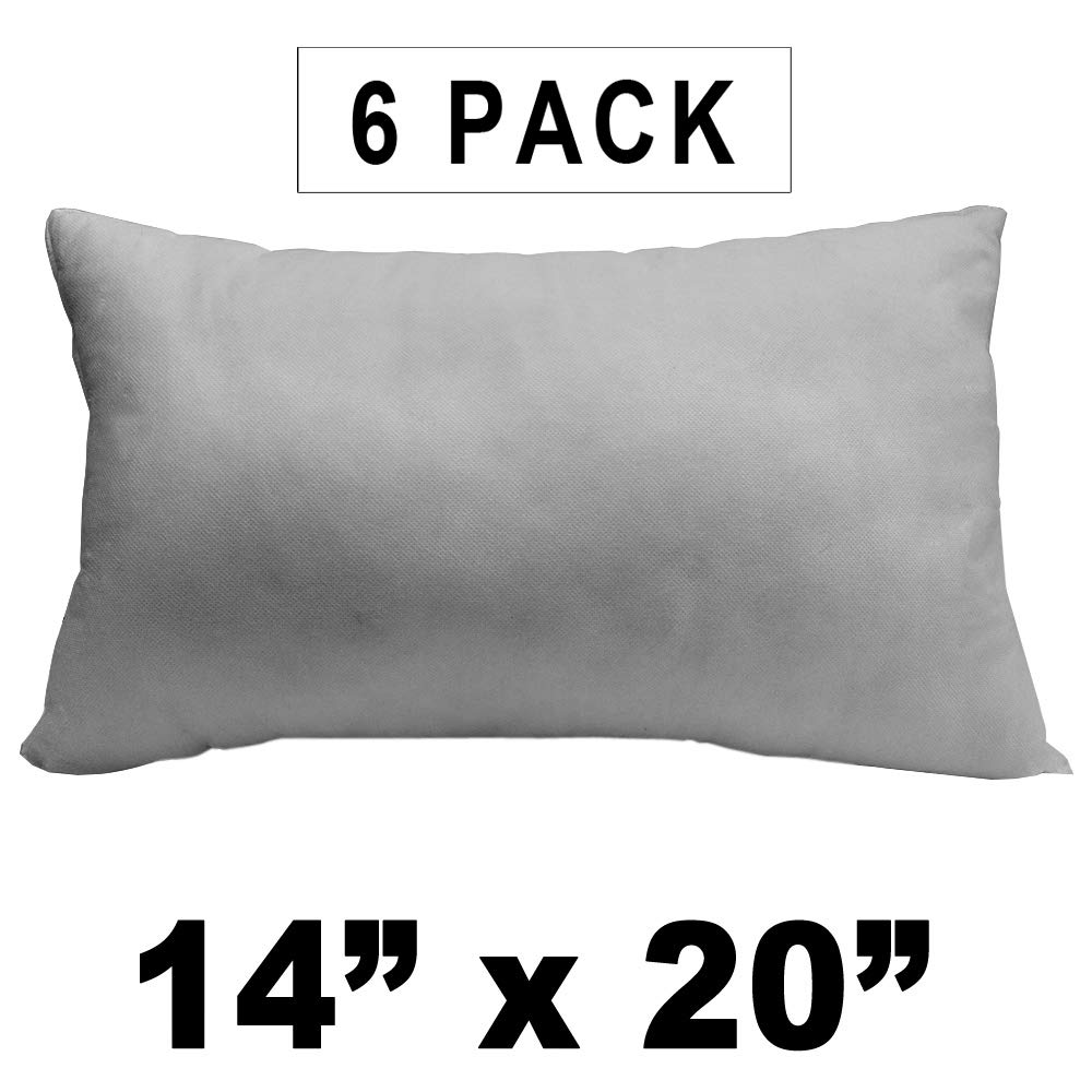 Pillow Insert 12 x 18 Indoor Outdoor Polyester Filled Standard Cover