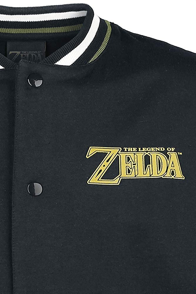 The Legend of Zelda Legendary Chaqueta Universitaria Negro ...