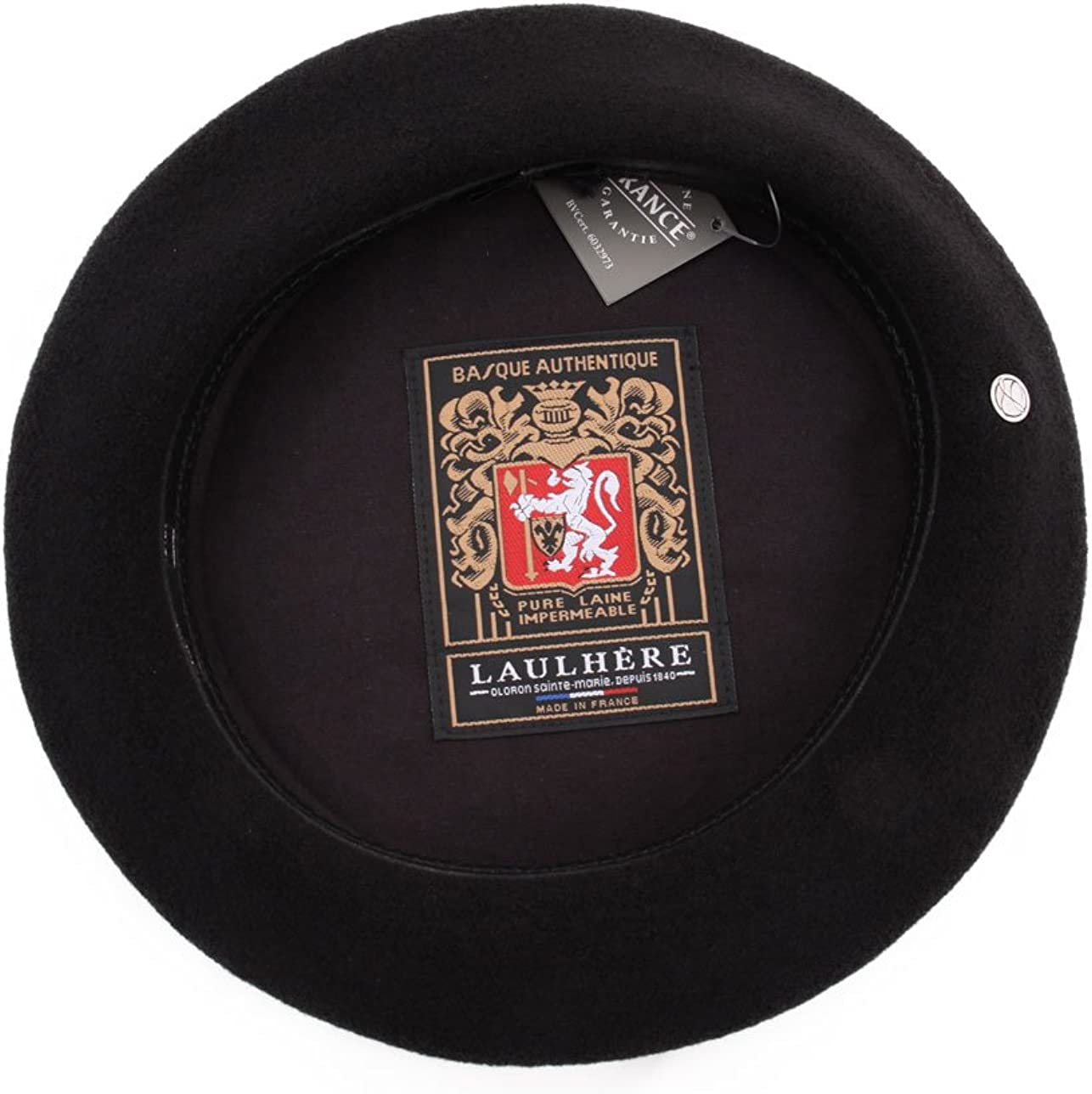 Laulhere Basque Authentique Noir b/éret Basque Authentique.