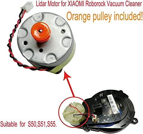siehe abbildung Lidar Motor Power Staubsauger Ersatzteile Zubeh/ör f/ür Roborock S50 S51 S55 Matedepreso Lidar Motor f/ür Entfernungssensor nicht null Free Size