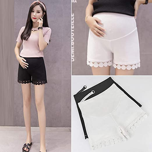 Discreet Lace Shorts Women High Waist Transparent Skinny Shorts Black White Lace Fitness Short Trousers Women Underwear & Sleepwears