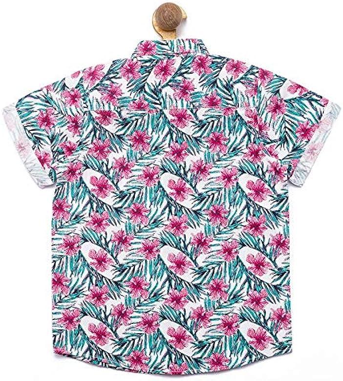 Nick&Jess Camisa estampada de algodón de corte regular para niños de 3 a 12 años Blanco blanco 3-4 Años: Amazon.es: Ropa y accesorios