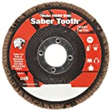 Weiler Saber Tooth Abrasive Flap Disc, Type 29, Round Hole, Phenolic Backing, Ceramic Aluminum Oxide, 4-1/2'' Dia., 80 Grit (Pack of 1)