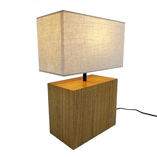 lampara mesa Lámpara De Mesa De Madera, Lámpara De Mesa Simple ...