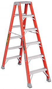 6' Fiberglass 375 Lb. Double Sided Stepladder, Type Iaa
