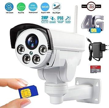 4G FDD-LTE Wireless IP Camera HD 1080P PTZ 5X Optical Zoom Outdoor CCTV IR 60M