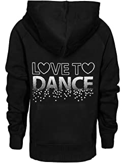 Love to Dance Hoodie for Girls with a Beautiful Swirl Design