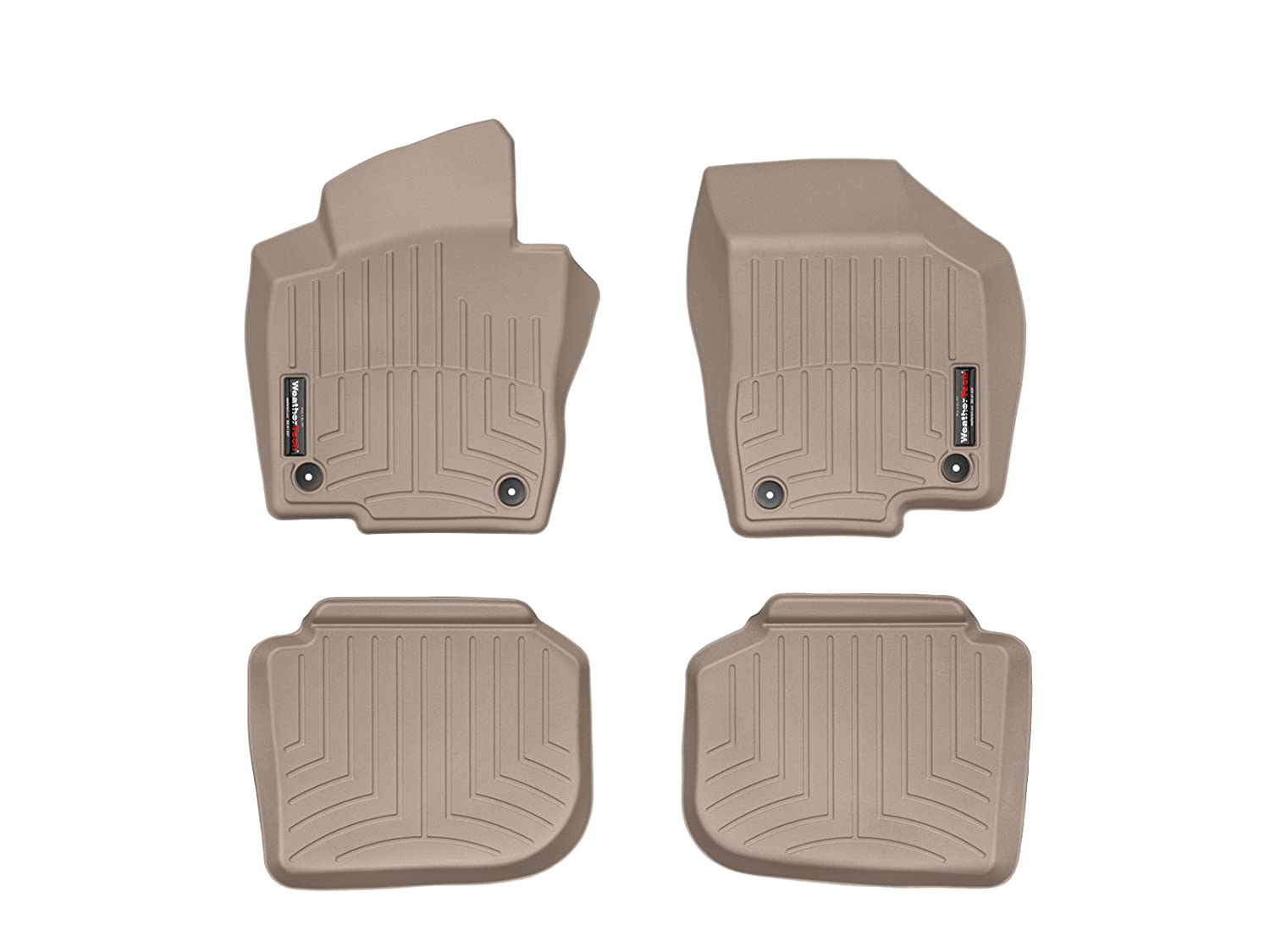 Tan 45072-1-2 WeatherTech First and Second Row FloorLiner