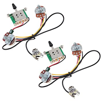 amazon com kmise two pickup guitar wiring harness 3 way blade rh amazon com Jimmy Page Wiring Harness Electric Guitar Wiring Kits