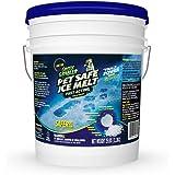 Green Gobbler Pet Safe Ice Melt Fast Acting Treatment | Magnesium Chloride Ice Melt Pellets | Pet & Plant Safe Ice Melter (25