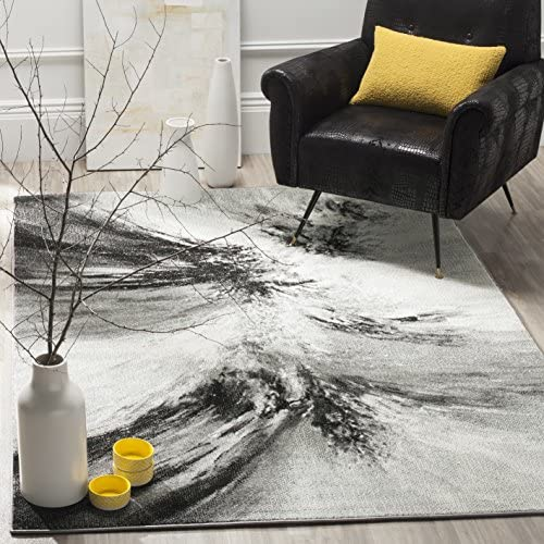 Safavieh Glacier Collection GLA127C Modern Contemporary Abstract Area Rug, 8 x 10 , Grey Multi