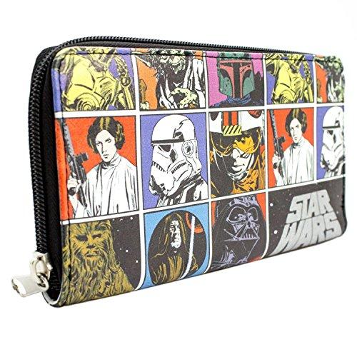 Star Wars Ursprüngliche Retro Schwarz Portemonnaie Geldbörse 9xjTD