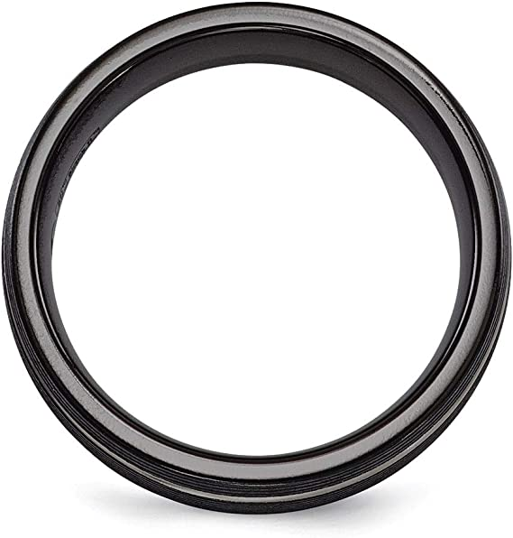 Lex /& Lu Edward Mirell Titanium Casted 11mm Band Ring