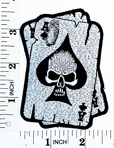 [Master Skull Poker Ace Card Old School Gambling Winner Playing Card Casino patch Motorcyle Bike Novelty patch Symbol Jacket T-shirt Patch Sew Iron on Embroidered Sign Badge] (Lucky Lady Casino Costume)