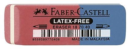 Faber-Castell 187040 goma - borradores (Azul, Rojo): Amazon.es ...