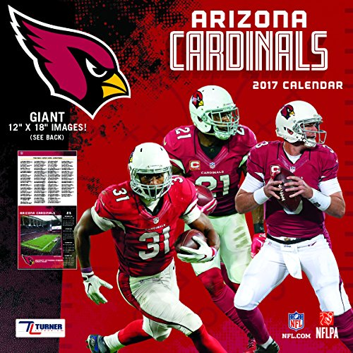 "Turner Licensing Sport 2017 Arizona Cardinals Team Wall Calendar, 12""X12"" (17998011899)"