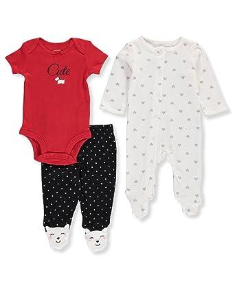 150b6dcf6 Amazon.com  Carter s Baby Girls  3 Piece Dog Pajama Set  Clothing