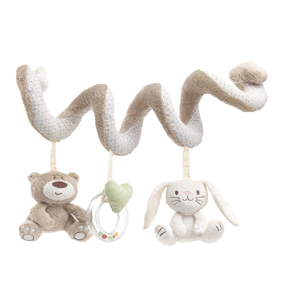 tininna beb juguetes colgantes espiral con felpa animales linda de la conejito bebe oso para cochecitos