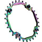 GANOPPER 30T Chainring 104 BCD Narrow Wide Teeth Single Chainring Crank Set Rings for 9 10 11 Speed Bike Parts (30T) (Tamaño: 30T)