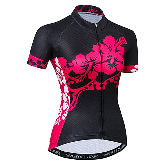 fd82bae12 Amazon.com  Weimostar Women Cycling Jersey Short Sleeve Shirt Bike ...