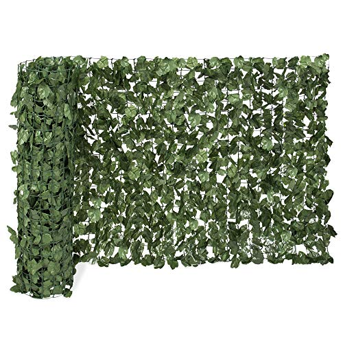 Best Choice Products Outdoor Garden 94x59-inch Artificial Faux Ivy Hedge Leaf and Vine Privacy Fence Wall Screen, Green