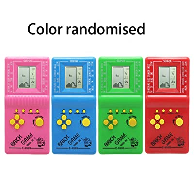Detectorcatty JY-30801A Portable Ultra-Small Children's Handheld Game Console Video Game Console Game Handheld Gamepad Tetris Puzzle Game: Toys & Games
