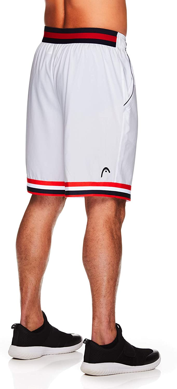 HEAD Men's Break Point Mesh Insert Workout Gym & Running Shorts w/ Elastic Waistband & Drawstring: Clothing