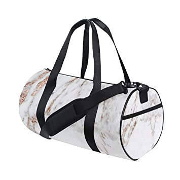 7f2959b7ab422 Amazon.com | Russe Gym Bag Rose Gold White Marble with Shoes ...