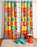 Blackout Poly Satin Fabric-Aero Plane Print Window Curtains - Set of 2 Curtain Panels for a Baby Nursery or Toddler or Kids Bedroom - 48'' x 60'' panels