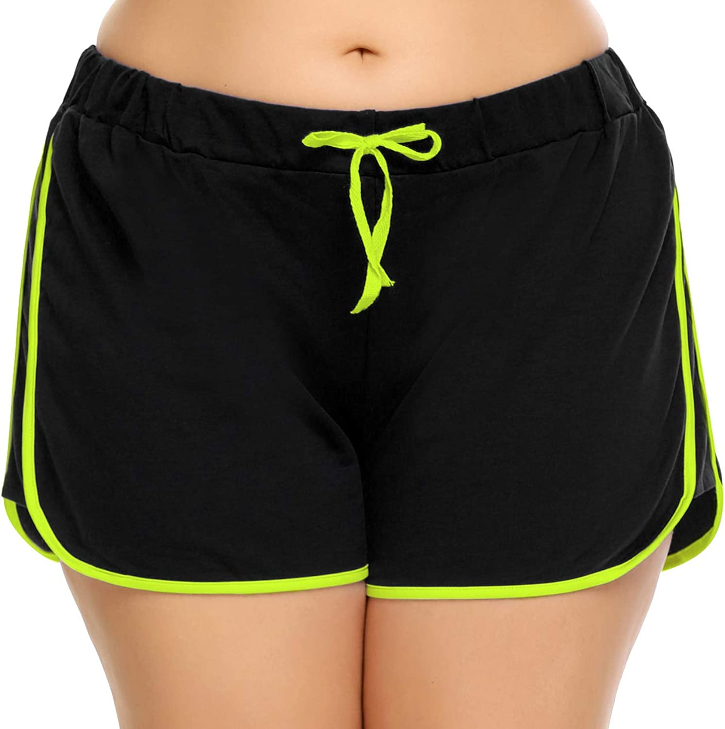 IN'VOLAND Women Dolphin Shorts Plus Size Running Short for Workout Gym Sports Active Yoga