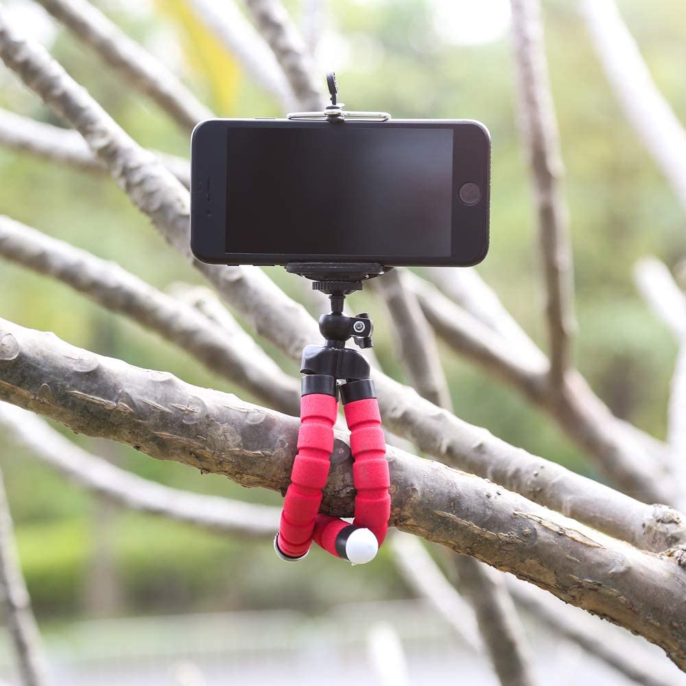 Flexible Mini Octopus Tripod for Phone with Phone Clip Tripod Stand Mount for GoPro SJCAM Xiaomi Yi Action Camera Blue