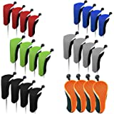SUNBRO Golf 4pcs Golf Accessories Hybrid Head Covers Set Rescue Headcovers Utility Club Protect Interchangeable Number…