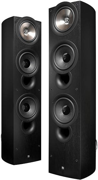 kef tower speakers. kef iq90bl floor standing speaker (single, black) (discontinued by manufacturer) kef tower speakers k