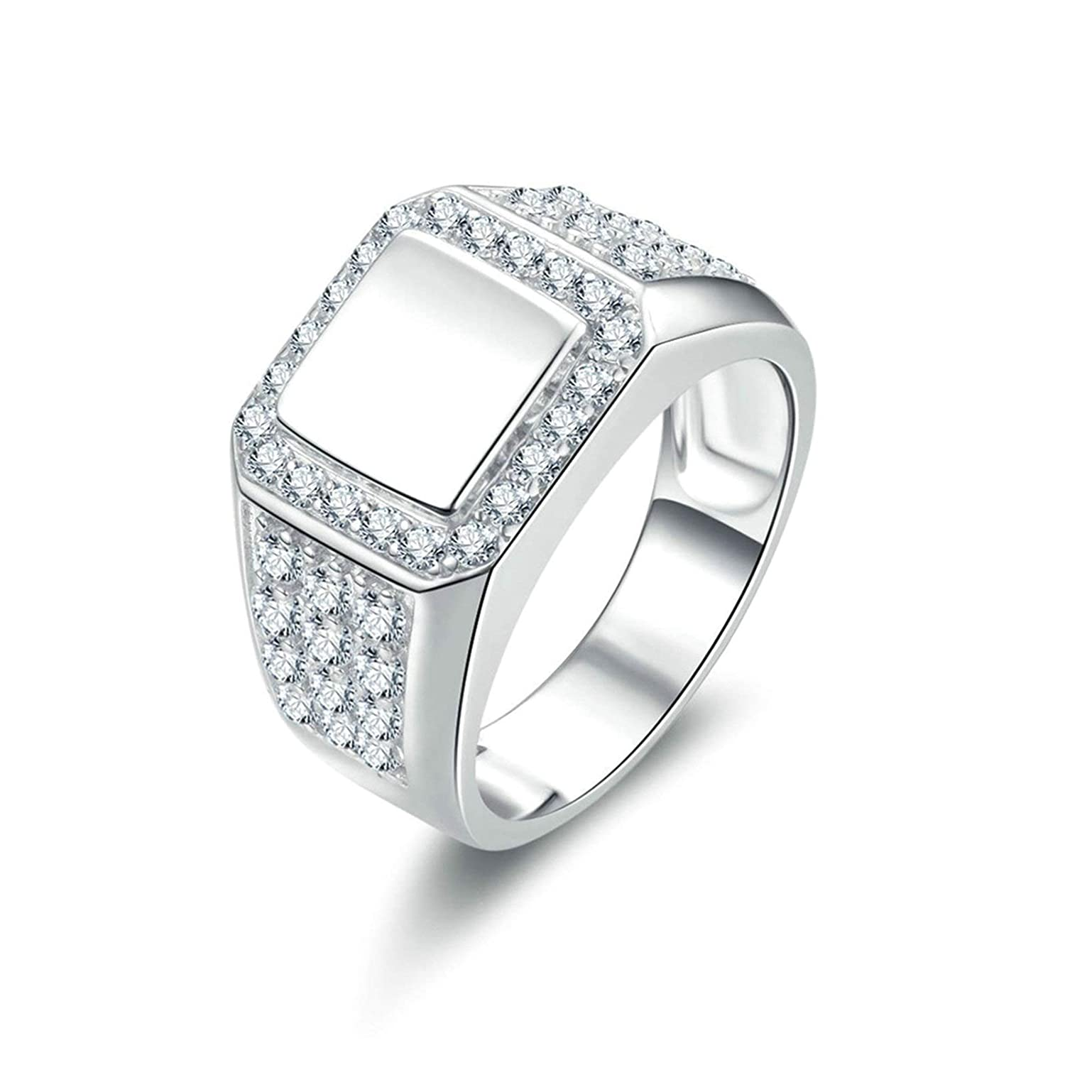 e4189dd5240d7 Amazon.com: Aooaz Jewelry Wedding Ring Silver Material Finger Ring ...