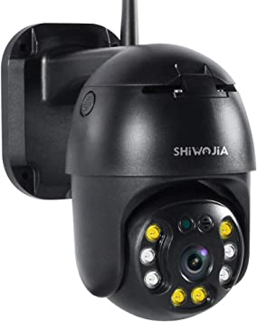 Ptz Wifi Kamera Aussen Shiwojia 1080p Hd Überwachungskamera Wlan Outdoor Mit Ip66 Wasserdicht Bewegungswarnung Zwei Wege Audio Und Cloud Speicher Baumarkt