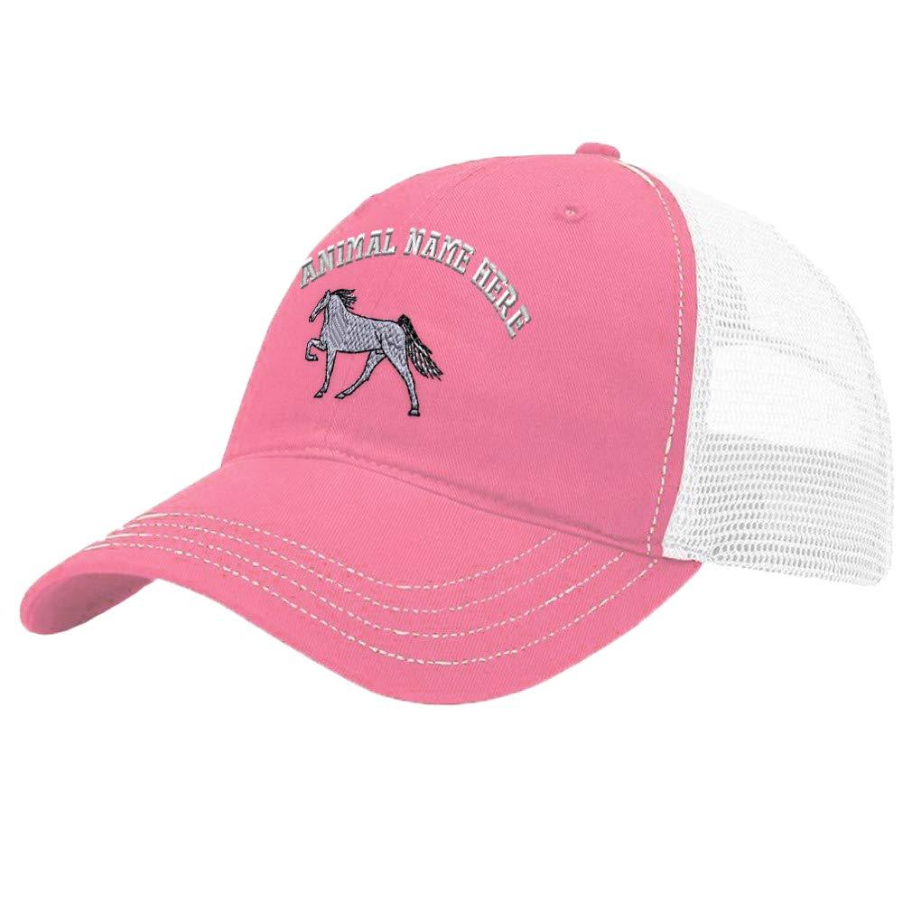 Custom Trucker Hat Richardson White Horse Embroidery Animal Name Cotton Snaps