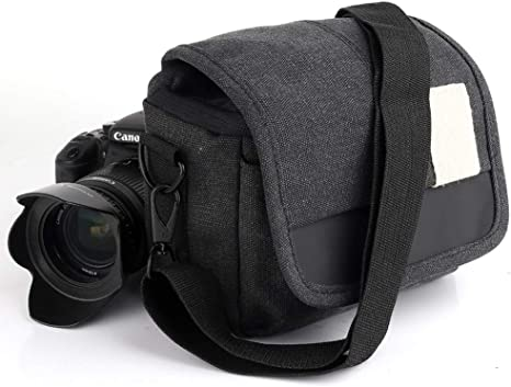 JSX Bolsa Hombro de la cámara réflex Digital, la Foto de SLR Bolso de Lona Objetivo Bolsas y Estuches para cámaras Digitales a Prueba de Golpes Bolsas,D: Amazon.es: Deportes y aire libre