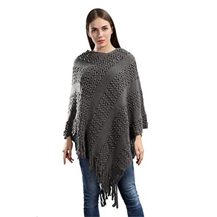Styhatbag Chal de Abrigo de Bufanda Capa de Punto de Invierno de Mujer/Autmn de