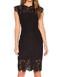 f9f3c7c93 Women s Sleeveless Floral Lace Slim Evening Cocktail Mini Dress for Party  DM261