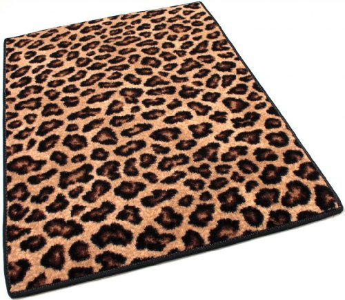 Leopold Leopard (4'x6' Indoor Cut Pile Leopold Leopard Print Area Rug for Home with Premium BOUND Polyester Edges.)