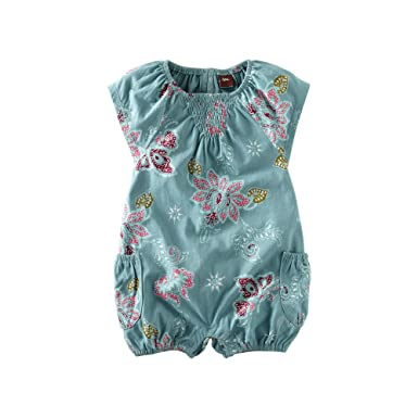 Tea Collection Baby Girl Newborn Floral Footed Romper Baby & Toddler Clothing