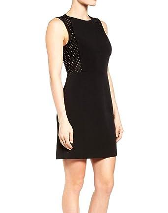 81633c510df0d Michael Michael Kors Studded Mesh Side Sleeveless Dress (Black) (14 ...