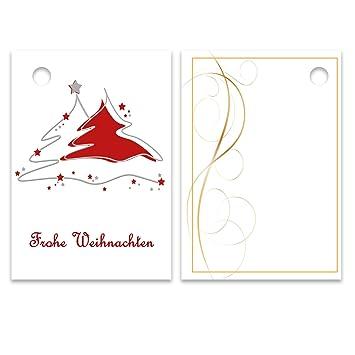Geschenkanhänger Frohe Weihnachten.25er Pack Geschenkanhänger Frohe Weihnachten Tannenbaum Ca 52 X 74 Mm Anhänger Weihnachtsanhänger Geschenkkarte Geschenkkärtchen