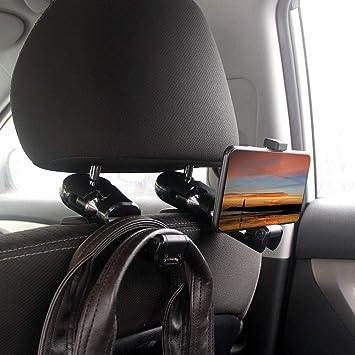 Black Multifunctional Plastic Auto Car Seat Back Hanging Hook Holder for Bag Purse Vehicle Universal Headrest Mount Hanger Hook