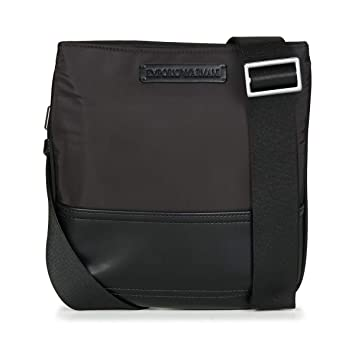 Amazon.com  Emporio Armani Logo Pouch Mens Cross Body Bag Black  Emporio  Armani  Shoes 4e5285a5efa5b